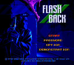 Flashback (Japan) Title Screen