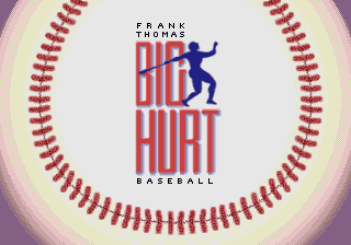 Frank Thomas Big Hurt Baseball (USA, Europe) Title Screen