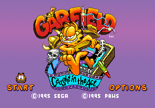 Garfield - Caught in the Act (USA, Europe) Title Screen