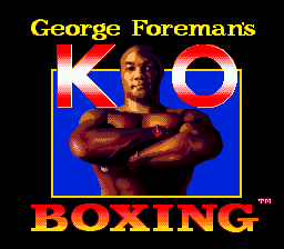 George Foreman's KO Boxing (Europe) Title Screen