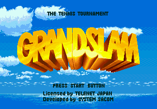 GrandSlam - The Tennis Tournament (Europe) Title Screen