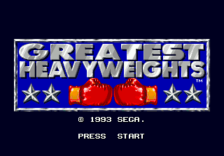 Greatest Heavyweights (USA) Title Screen