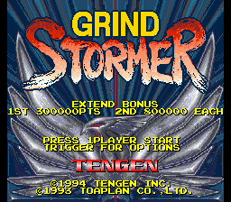 Grind Stormer (USA) Title Screen