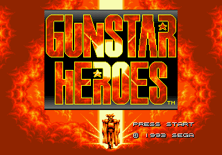 Gunstar Heroes (USA) Title Screen
