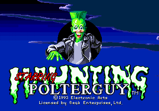 Haunting Starring Polterguy (USA, Europe) Title Screen