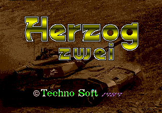Herzog Zwei (USA, Europe) Title Screen