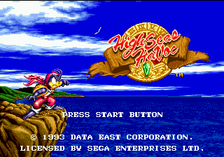 High Seas Havoc (USA) Title Screen