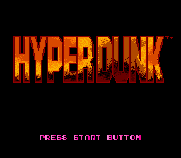 Hyper Dunk (Europe) Title Screen