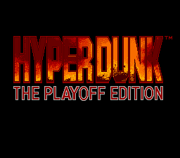 Hyper Dunk - The Playoff Edition (Japan) Title Screen
