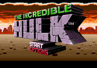Incredible Hulk, The (USA, Europe) Title Screen