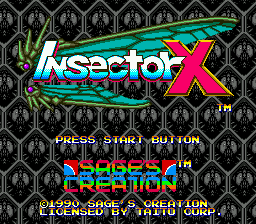 Insector X (Japan) Title Screen