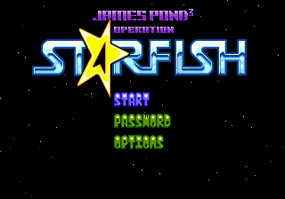 James Pond 3 - Operation Starfish (USA, Europe) Title Screen