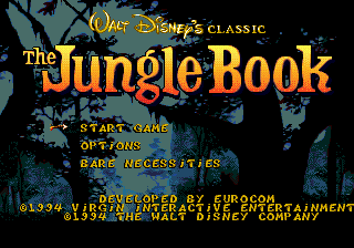 Jungle Book, The (USA) Title Screen