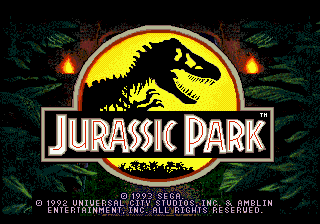 Jurassic Park (Japan) Title Screen