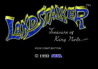 Landstalker (USA) (Beta) Title Screen