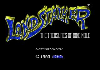 Landstalker - The Treasures of King Nole (Europe) Title Screen