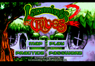 Lemmings 2 - The Tribes (Europe) Title Screen