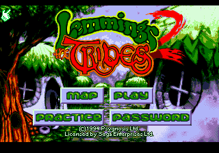 Lemmings 2 - The Tribes (USA) Title Screen