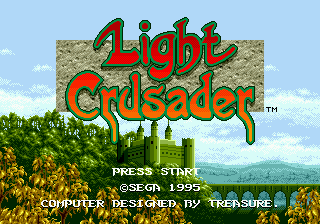Light Crusader (Japan) Title Screen