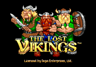 Lost Vikings, The (USA) Title Screen