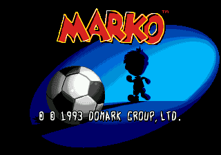 Marko's Magic Football (USA) Title Screen