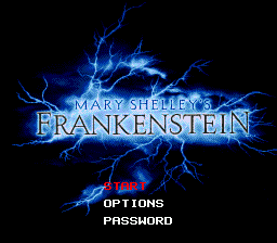 Mary Shelley's Frankenstein (USA) Title Screen
