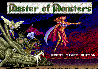 Master of Monsters (USA) Title Screen
