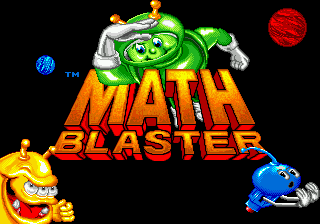 Math Blaster - Episode 1 (USA) Title Screen