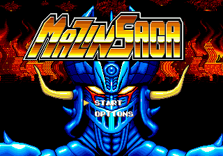 Mazin Saga Mutant Fighter (USA) Title Screen