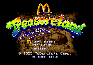 McDonald's Treasure Land Adventure (USA) Title Screen