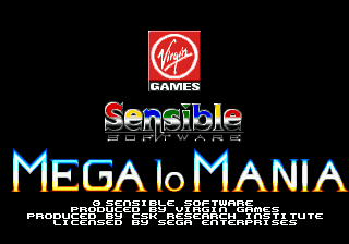 Mega-Lo-Mania (Japan) Title Screen