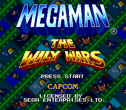 Megaman - The Wily Wars (Europe) Title Screen