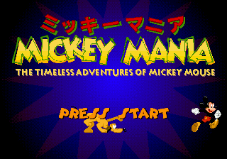 Mickey Mania - The Timeless Adventures of Mickey Mouse (Japan) Title Screen