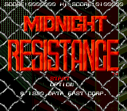 Midnight Resistance (USA) Title Screen