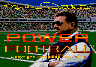 Mike Ditka Power Football (USA) Title Screen