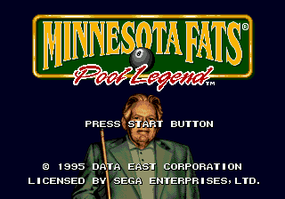 Minnesota Fats - Pool Legend (USA) Title Screen