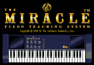 Miracle Piano Teaching System (USA) Title Screen