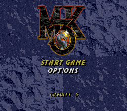 Mortal Kombat 3 (Europe) Title Screen