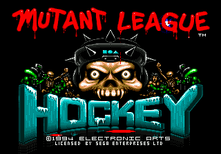Mutant League Hockey (USA, Europe) Title Screen