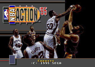 NBA Action '95 Starring David Robinson (USA, Europe) Title Screen
