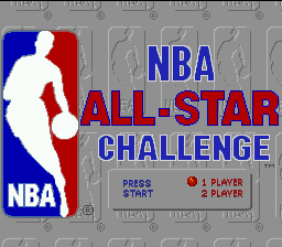 NBA All-Star Challenge (USA, Europe) Title Screen