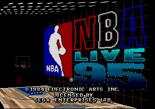 NBA Live 95 (USA, Europe) Title Screen