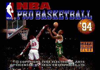 NBA Pro Basketball '94 (Japan) Title Screen