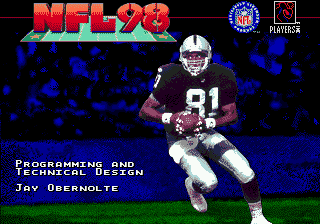 NFL 98 (USA) Title Screen