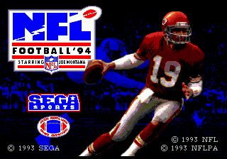 NFL Football '94 (Japan) Title Screen