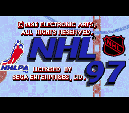 NHL 97 (USA, Europe) Title Screen