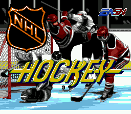 NHL Hockey (USA) Title Screen