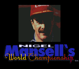 Nigel Mansell's World Championship Racing (USA) Title Screen