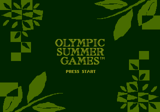 Olympic Summer Games (USA, Europe) Title Screen