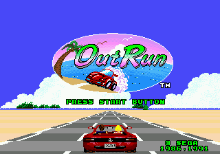 OutRun (Japan) Title Screen
